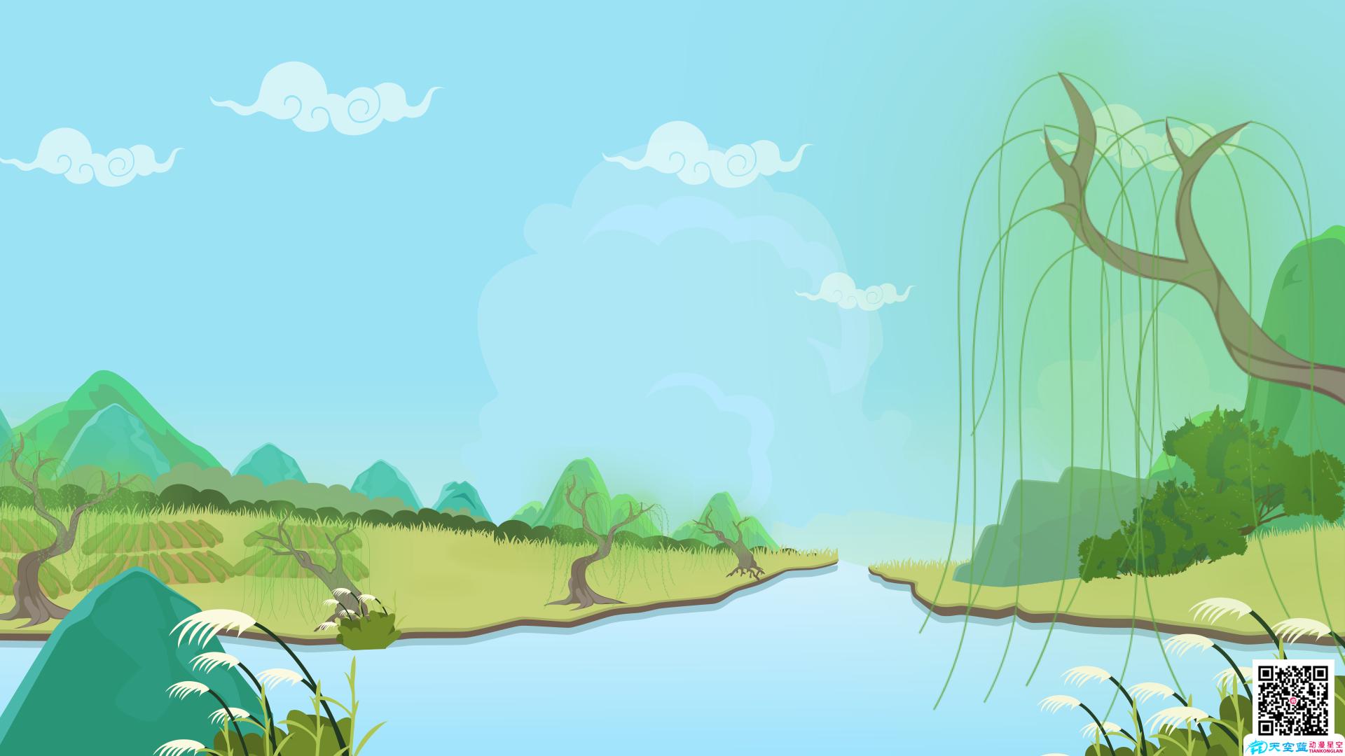 动画教学视频制作《村居》动画二小学年级v动画片小学英语试卷答题卡模板图片