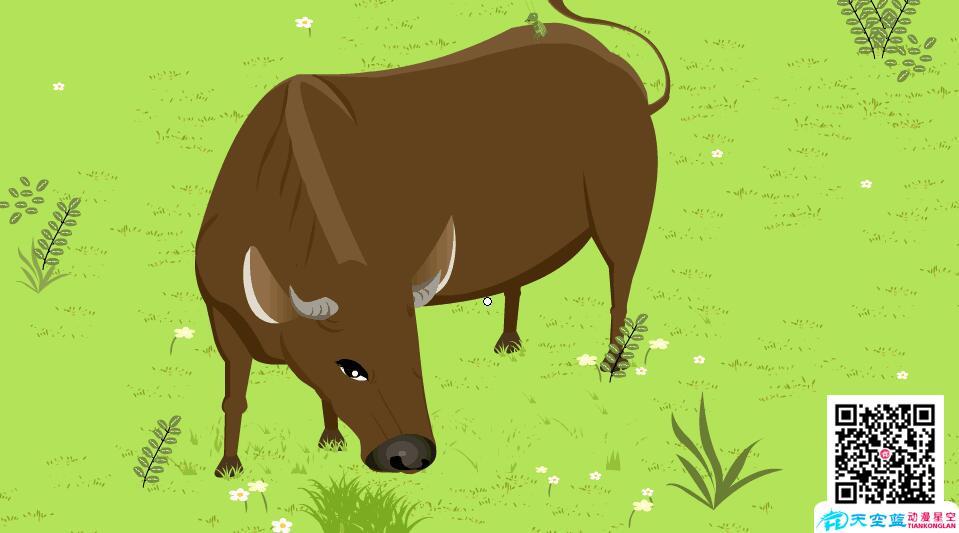 flash课件制作「在牛肚子里旅行」动漫教学视频