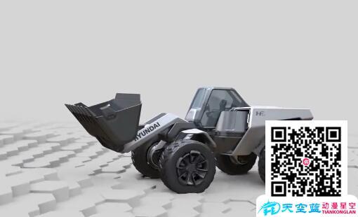 概念三维铲车演示机械运动动画展示 三维动画制作