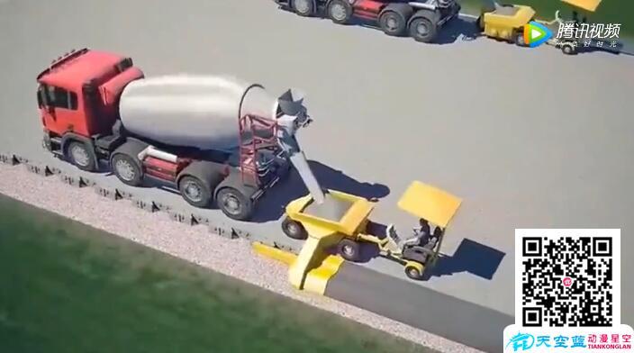 三维3D动画制作演示未来这样修建高速公路