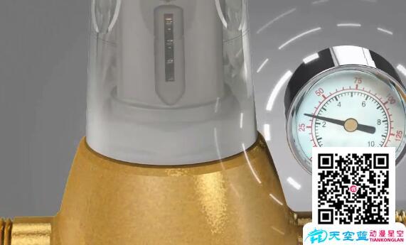 德国萨奇反冲洗前置过滤器三维动画效果