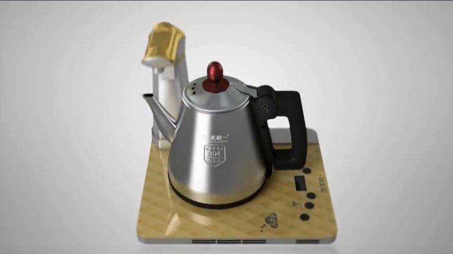 三维动画+视频后期智能烧水壶宣传片