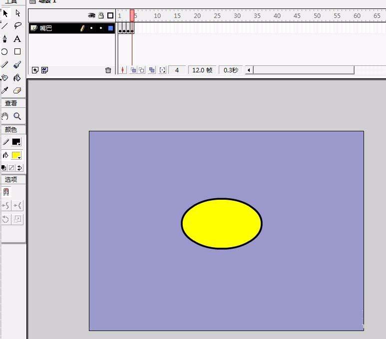 Flash怎么制作一张一合嘴的动画? Flash动画制作 第5张