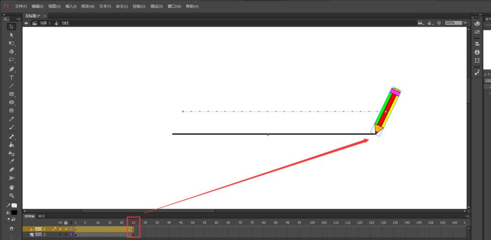 Flash怎么制作铅笔写田字格的动画? Flash动画制作 第10张