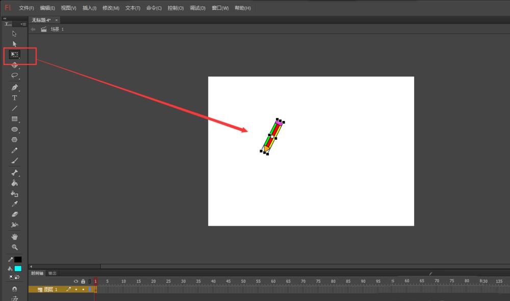 FLash动画软件里面的铅笔工具怎么添加画线条的动画? Flash动画制作 第5张