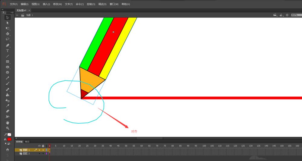 FLash动画软件里面的铅笔工具怎么添加画线条的动画? Flash动画制作 第7张