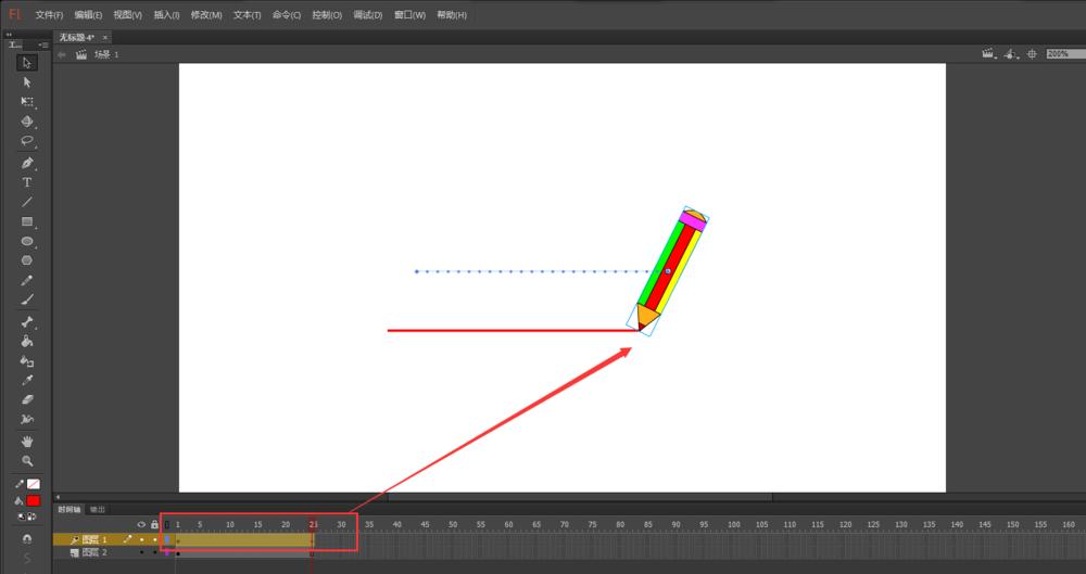FLash动画软件里面的铅笔工具怎么添加画线条的动画? Flash动画制作 第9张