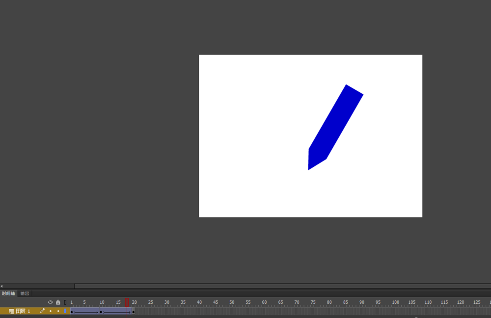 Flash动画软件里怎么制作铅笔左右摆动的动画效果? Flash动画制作 第8张
