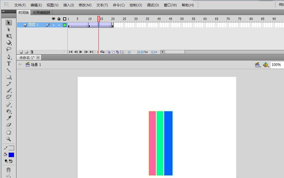 Flash动画制作软件怎么制作色条不断变色的动画效果? Flash动画制作 第10张