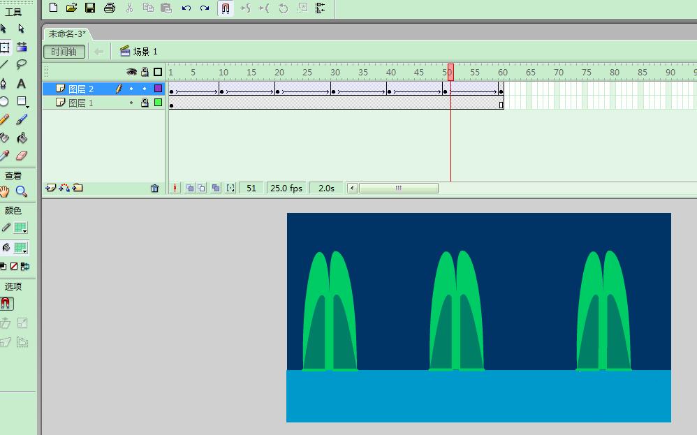 Flash动画制作软件怎么制作喷泉的动画效果? Flash动画制作 第7张