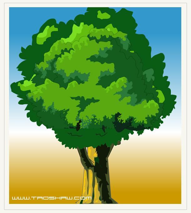 Flash动画制作软件轻松绘制动画中的矢量大树图