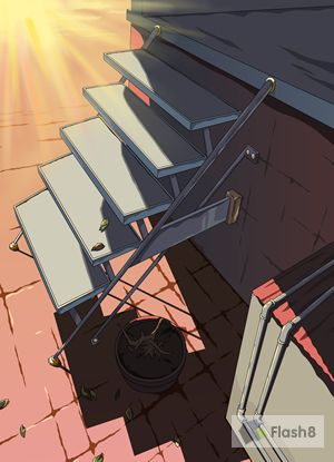 Flash动画制作软件手绘设计简单的楼梯动画场景