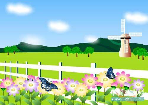 Flash动画制作软件新手鼠绘:漂亮的卡通花草场景 Flash动画制作 第3张