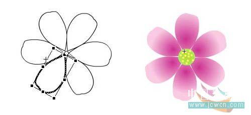Flash动画制作软件新手鼠绘:漂亮的卡通花草场景 Flash动画制作 第6张
