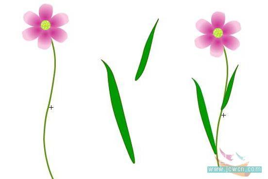 Flash动画制作软件新手鼠绘:漂亮的卡通花草场景 Flash动画制作 第14张