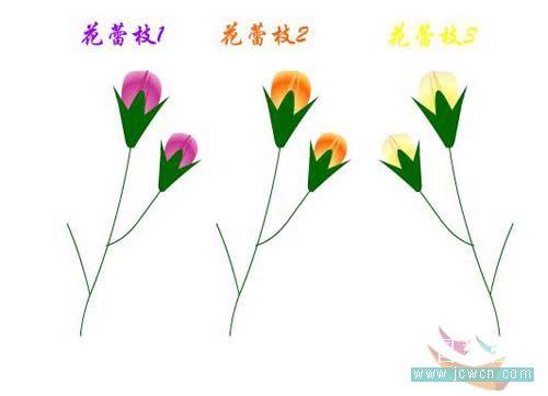 Flash动画制作软件新手鼠绘:漂亮的卡通花草场景 Flash动画制作 第15张