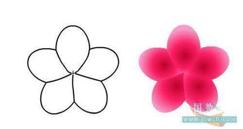 Flash动画制作软件新手鼠绘:梅花花瓣的制作
