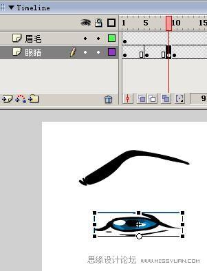 Flash制作卡通人物眨眼动画的方法,PS教程,思缘教程网
