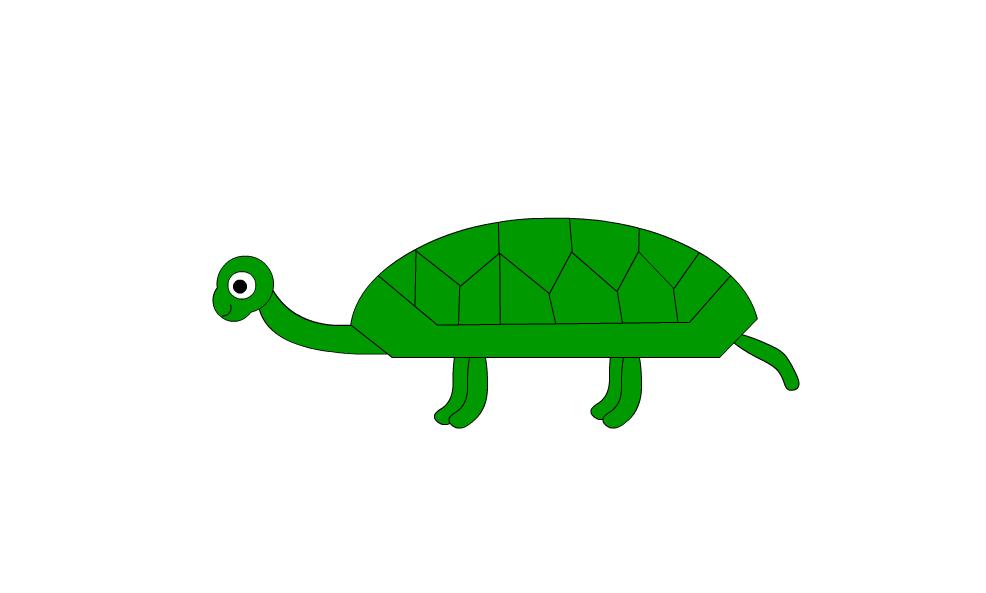 flash动画制作软件怎么画乌龟并上色?