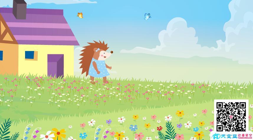 动画教学视频制作《开满鲜花的小路》小学二年级动画学习片 教学动画制作 第3张