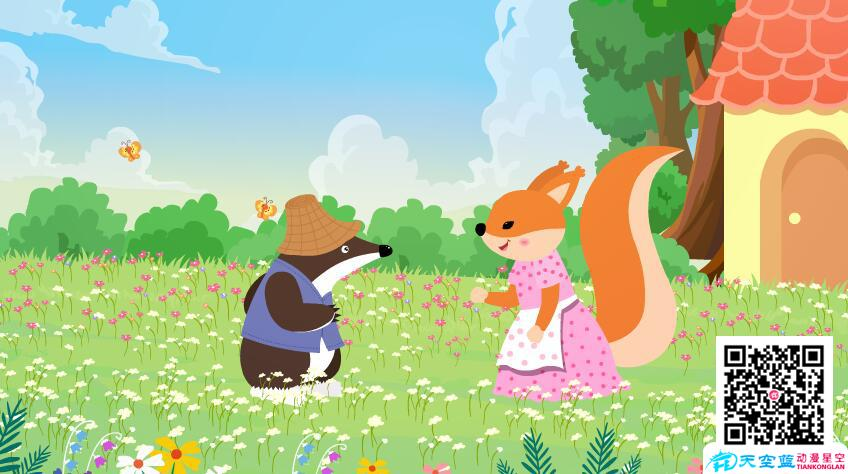 flash课件动画教学视频制作「开满鲜花的小路」小学二年级动画学习片
