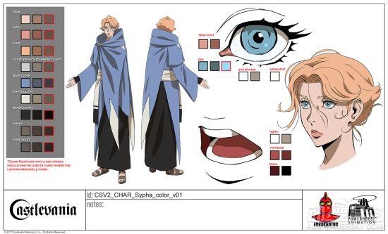 《恶魔城》动画人设图公开 完美细节令人赞叹