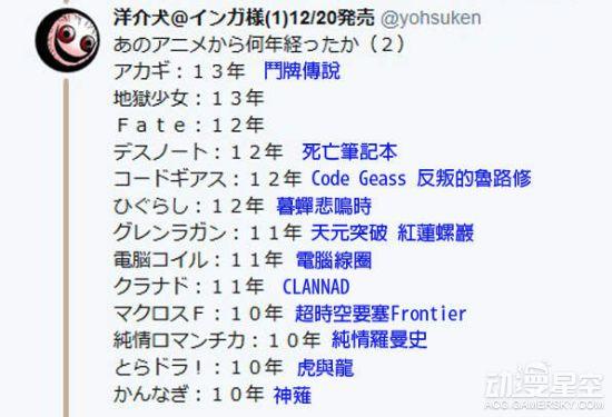 日本推主整理经典人气动画年份表 看完感觉真的老了 动漫星空 第4张