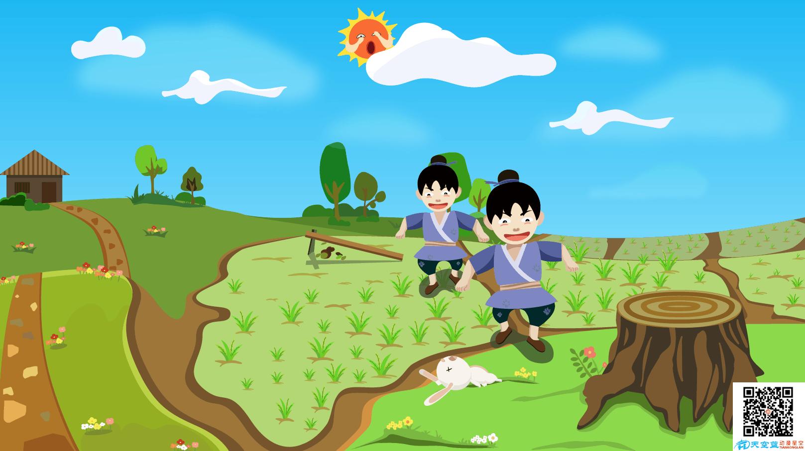 成语故事《守株待兔》动画视频创作