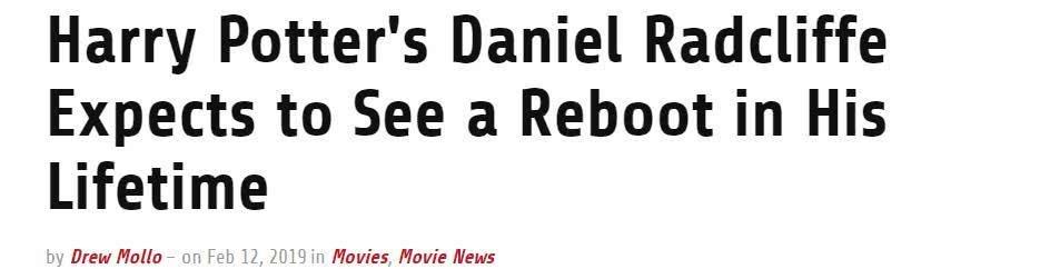 期待《哈利·波特》重启!主演表示很乐意回归 动漫星空 第3张