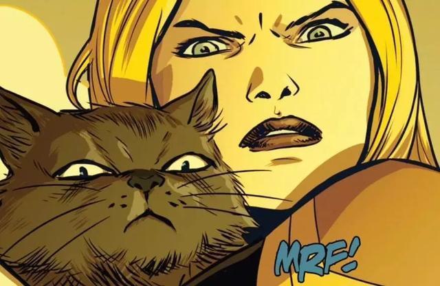 惊奇队长最亮眼角色,橘猫噬元兽,萌萌的外表下实力堪比灭霸!
