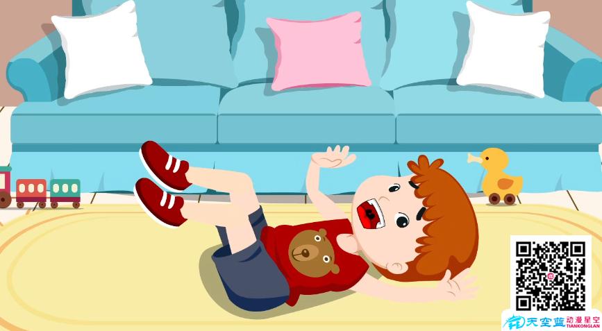 《小孩子耍赖不想上学》动画制作
