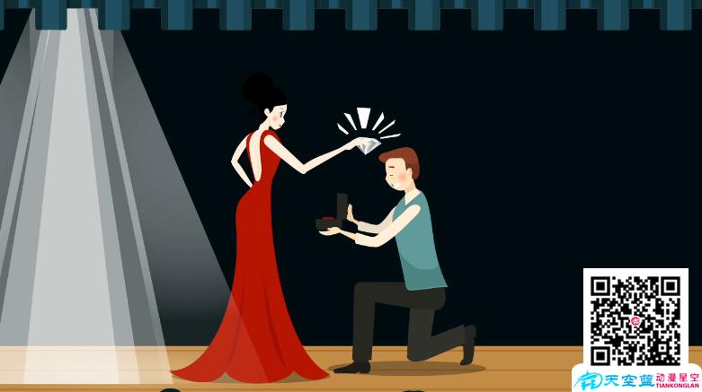 《女演员拍戏得到一颗钻石》动画制作