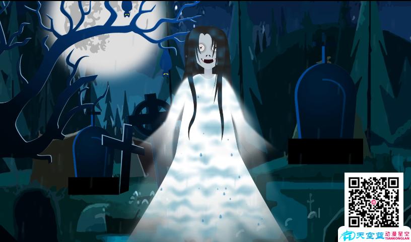 《全身湿透的女鬼》动画制作