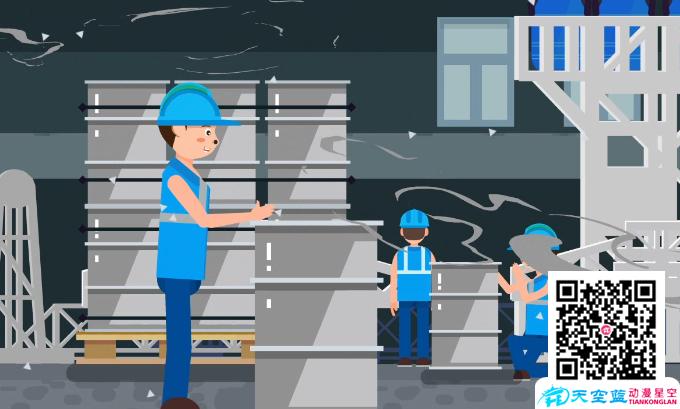 《工人发生严重的意外吸铝而死》动画制作