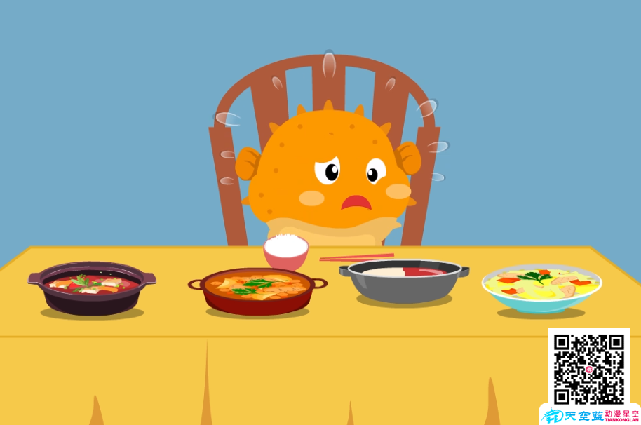 《河豚怕肥不敢吃东西》动画制作