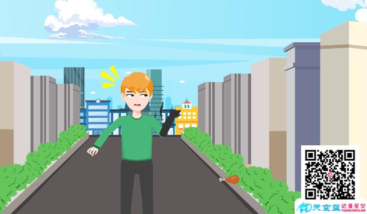 《你浪费食物,闪电会来疼你》动画制作