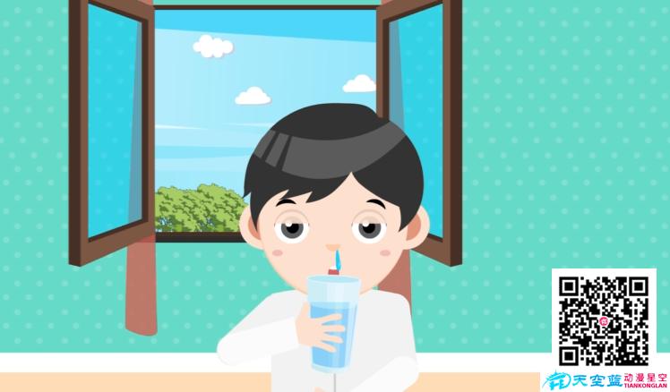 《克服咳嗽最好的方法就是多喝水》动画制作