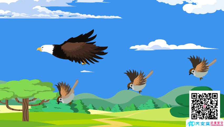 《老鹰不停的追逐,造成麻雀死掉》动画制作