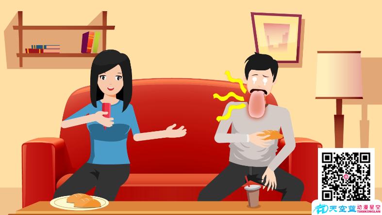 《芥末太呛了,真是麻舌头》二维动画制作