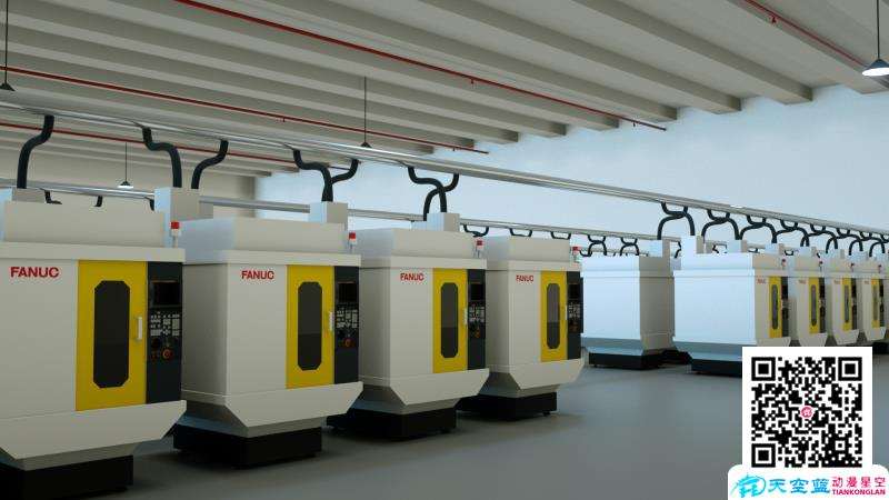 「3d动画制作」CNC铣床工作原理流程演示