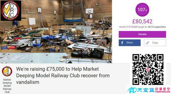英国铁道模型展遭熊孩子破坏 多年心血被毁太凄惨