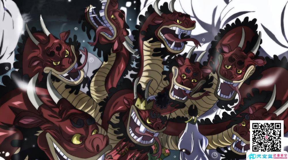 海贼王官方公布四皇凯多能力,是动物系幻兽种,百兽之王实至名归