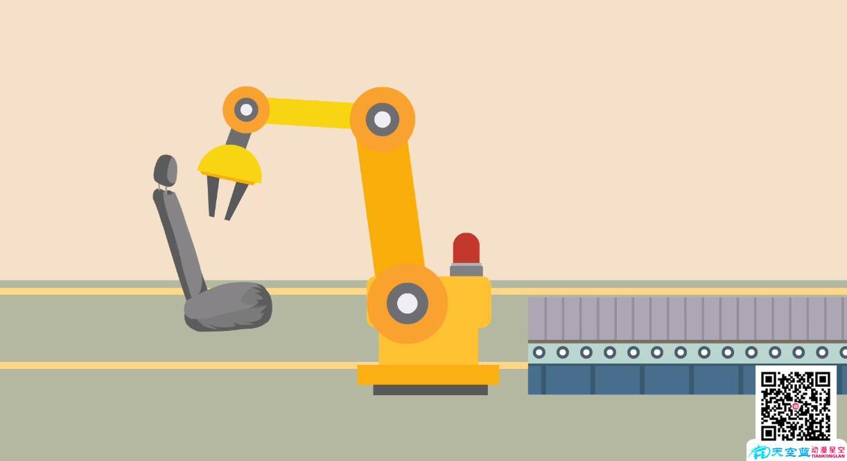 「MG动画」车间机械抓取演示动画制作