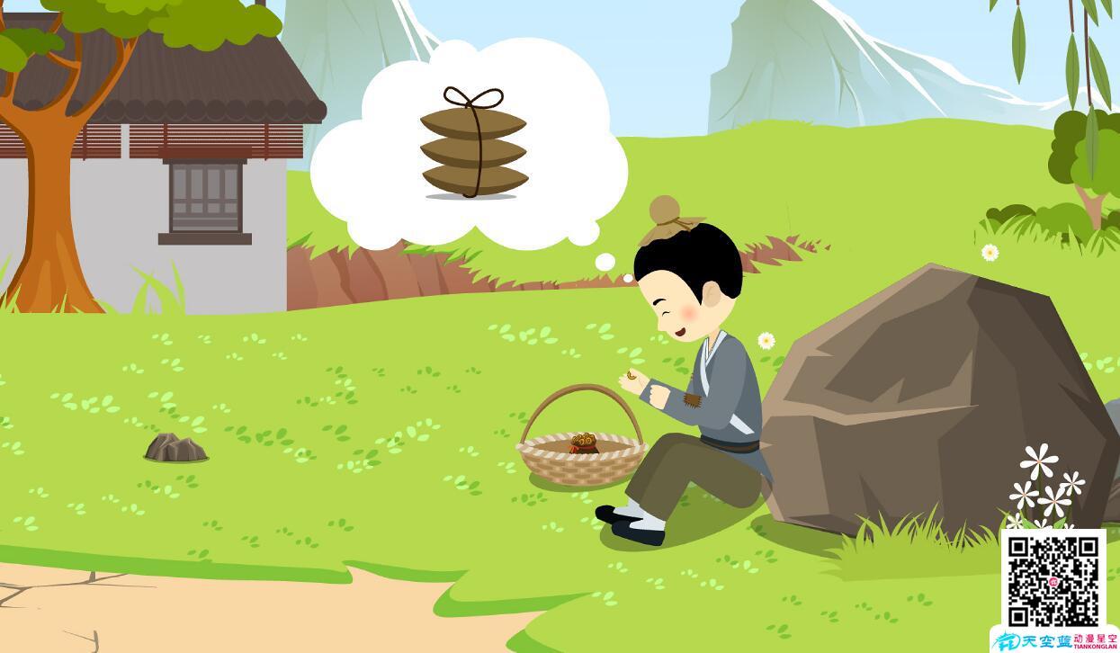 动漫设计制作「包公审石头」动画视频分镜头小孩数钱.jpg