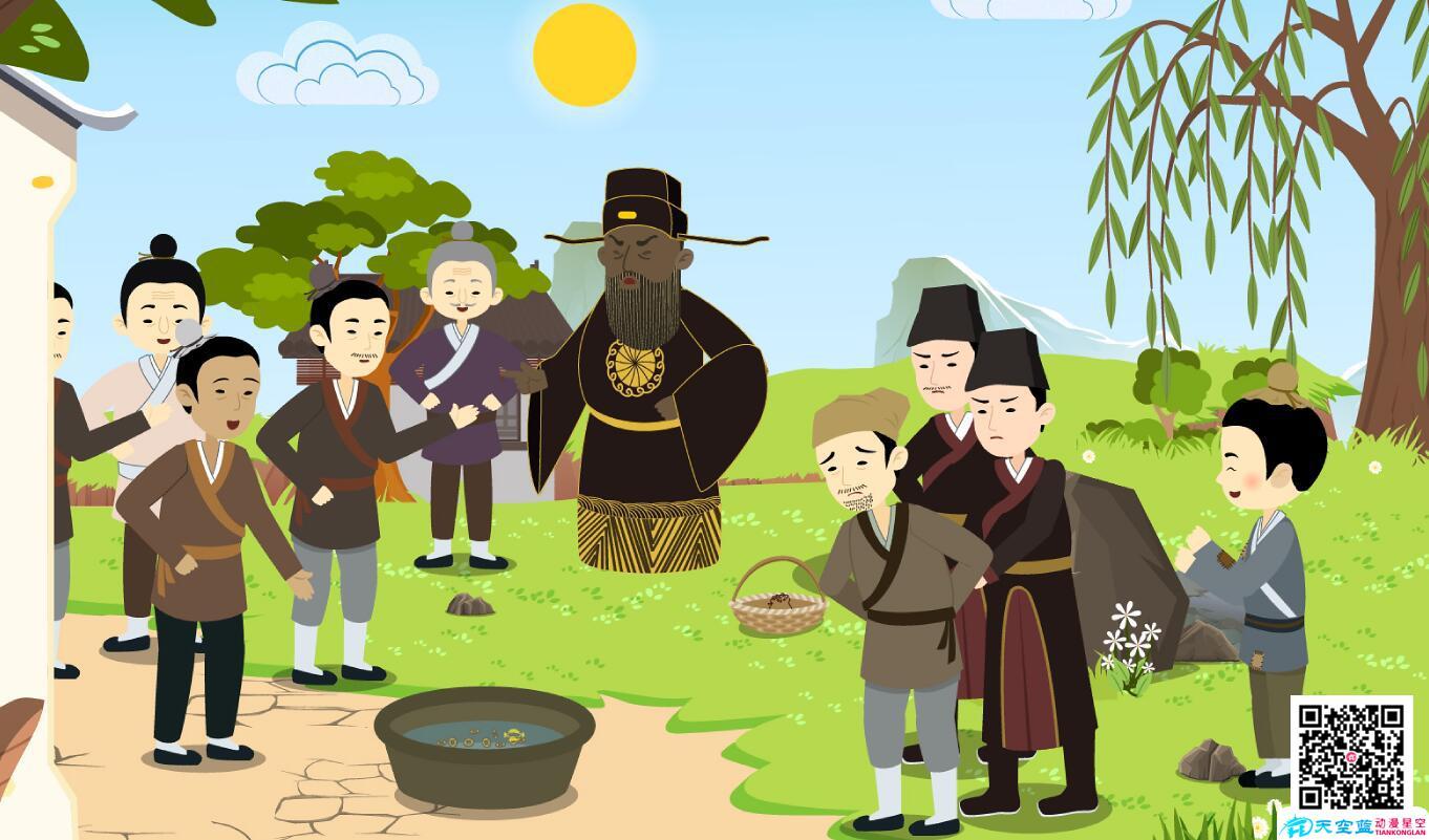 动漫设计制作「包公审石头」动画视频分镜头成功抓获小偷.jpg