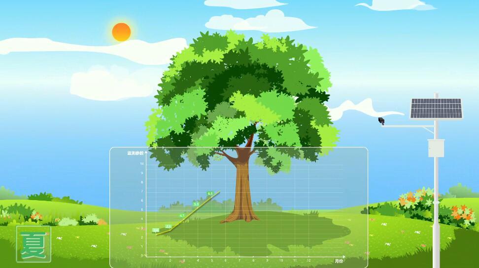树木监控mg动画制作