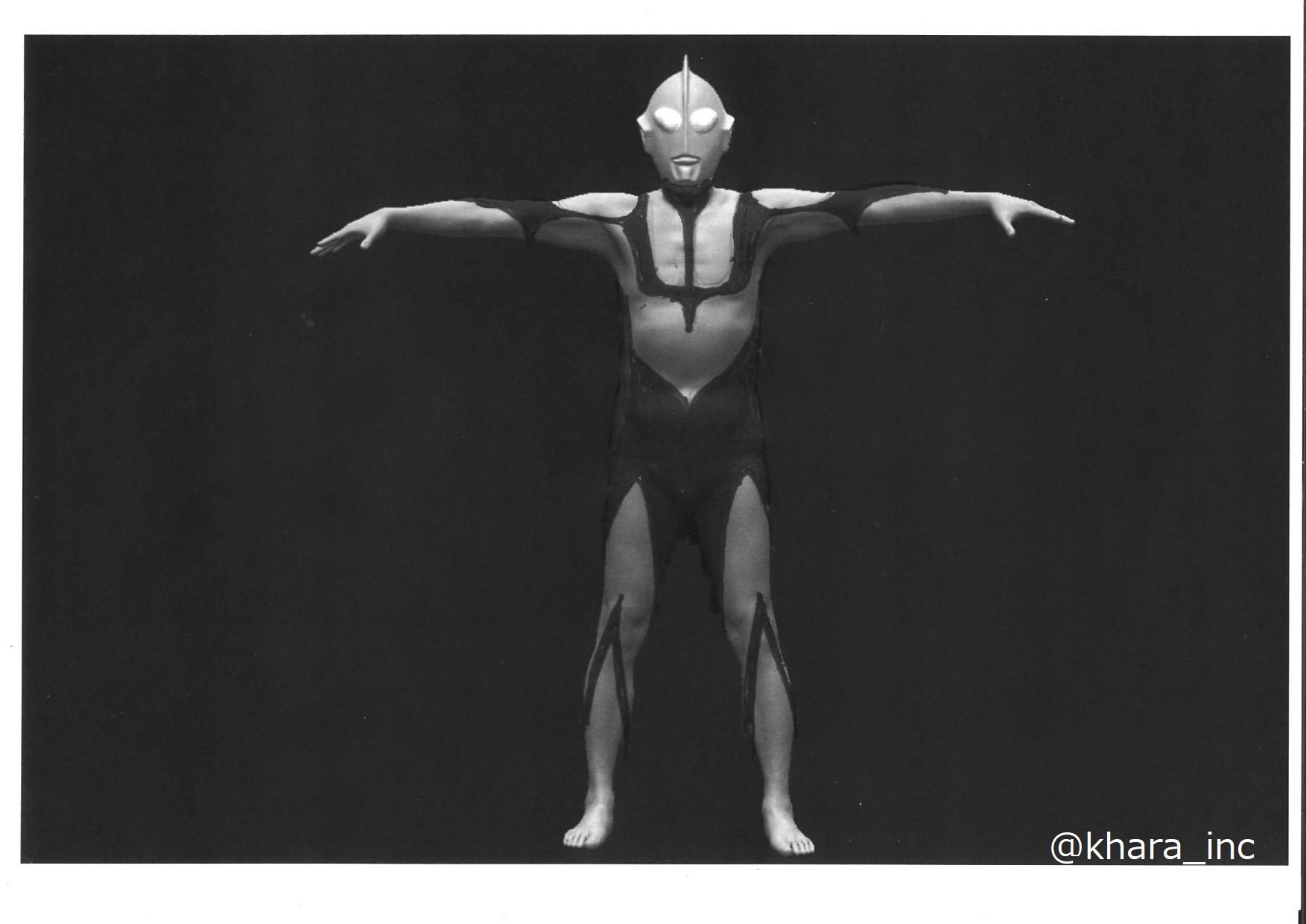 动画《新·奥特曼》庵野秀明早期设计图 根据初代演员设计
