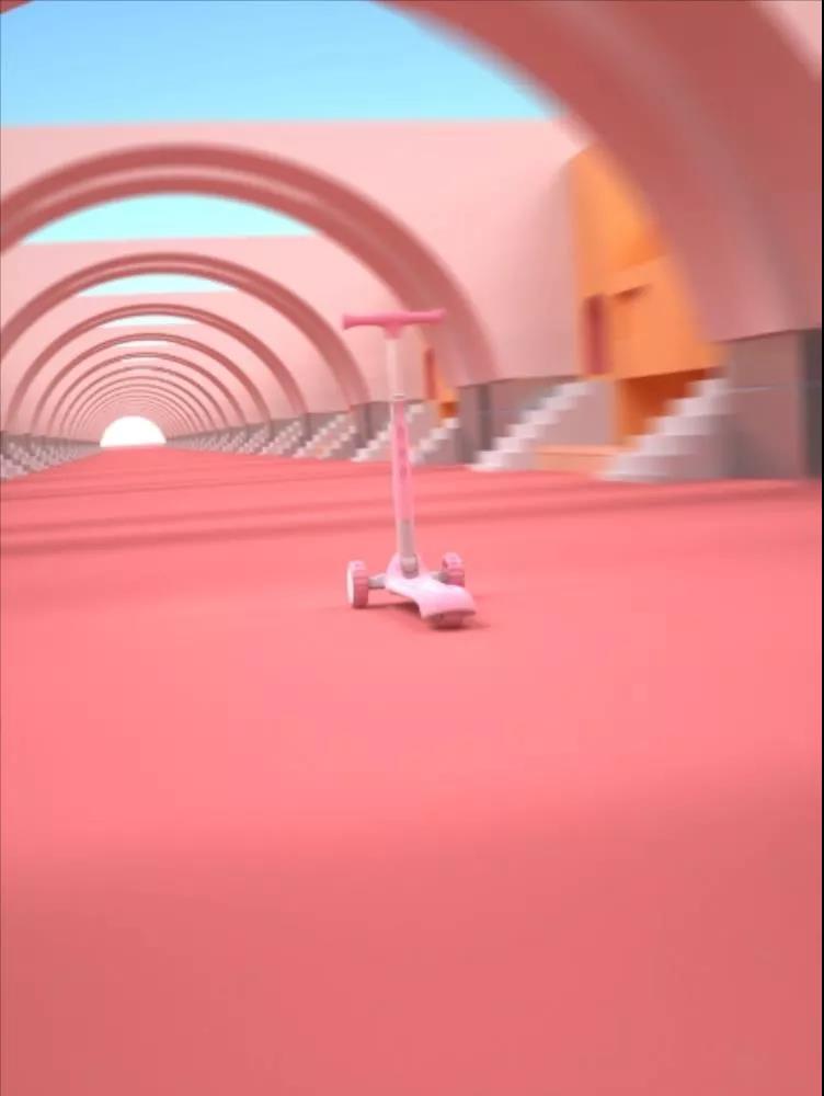 滑板车三维动画场景制作.jpg