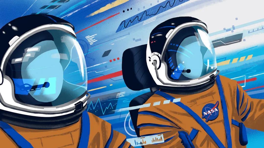 插画风格MG动画,5分钟关于航天技术的介绍
