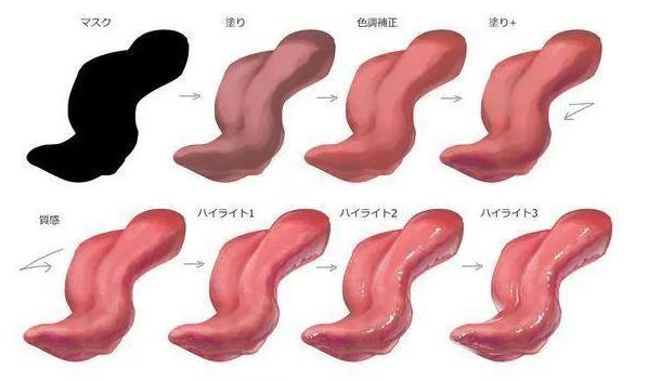 手绘动漫设计嘴巴、舌头,画法分享!